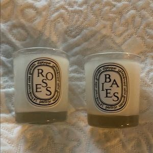 New. Diptyque Baies and Roses 35G travel candles.